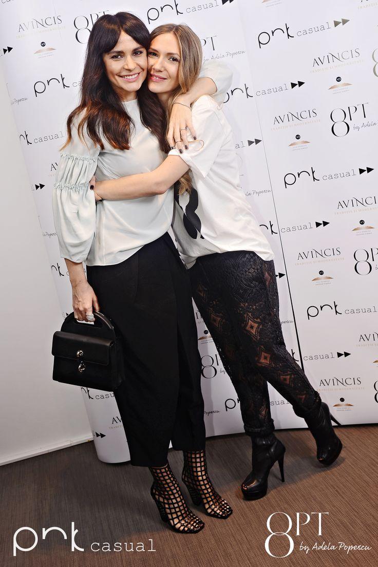 Adela Popescu si Adelina Chivu #PNKForward #8pt #PNKcasual @adelapopescu #fashion #style #cool #streetstyle #event @adelinachivu