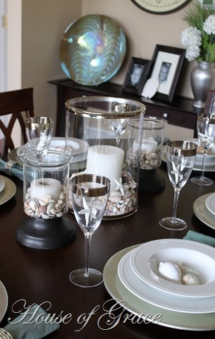 shells table centerpiece