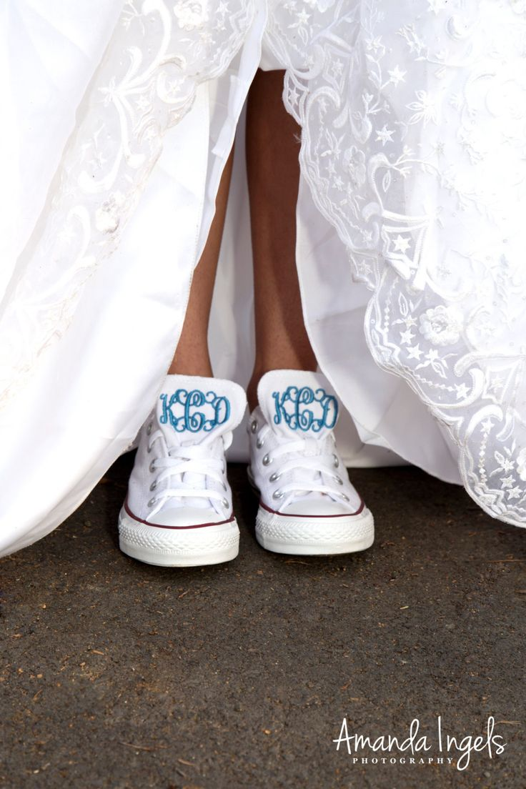 Something in Blue Converse,Wedding,Monogram converse, Converse, Vintage, Custom, Customized by ElizabethMarieD on Etsy https://www.etsy.com/listing/188741580/something-in-blue