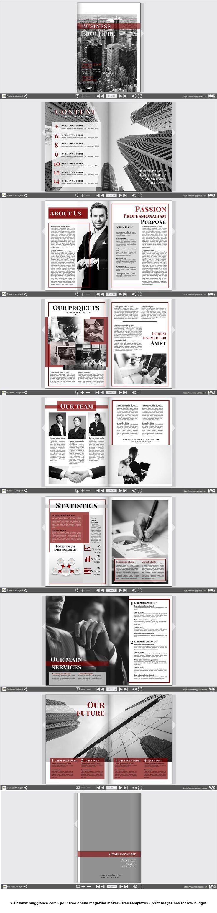Business Broschüre kostenlos online erstellen und günstig drucken unter de.magglance.com #Broschüre #Firmenzeitung #Vorlage #Design #Muster #Beispiel #Template #Firmenzeitung #Layout #Erstellen #Gestalten #Cover #Unternehmenpräsentation