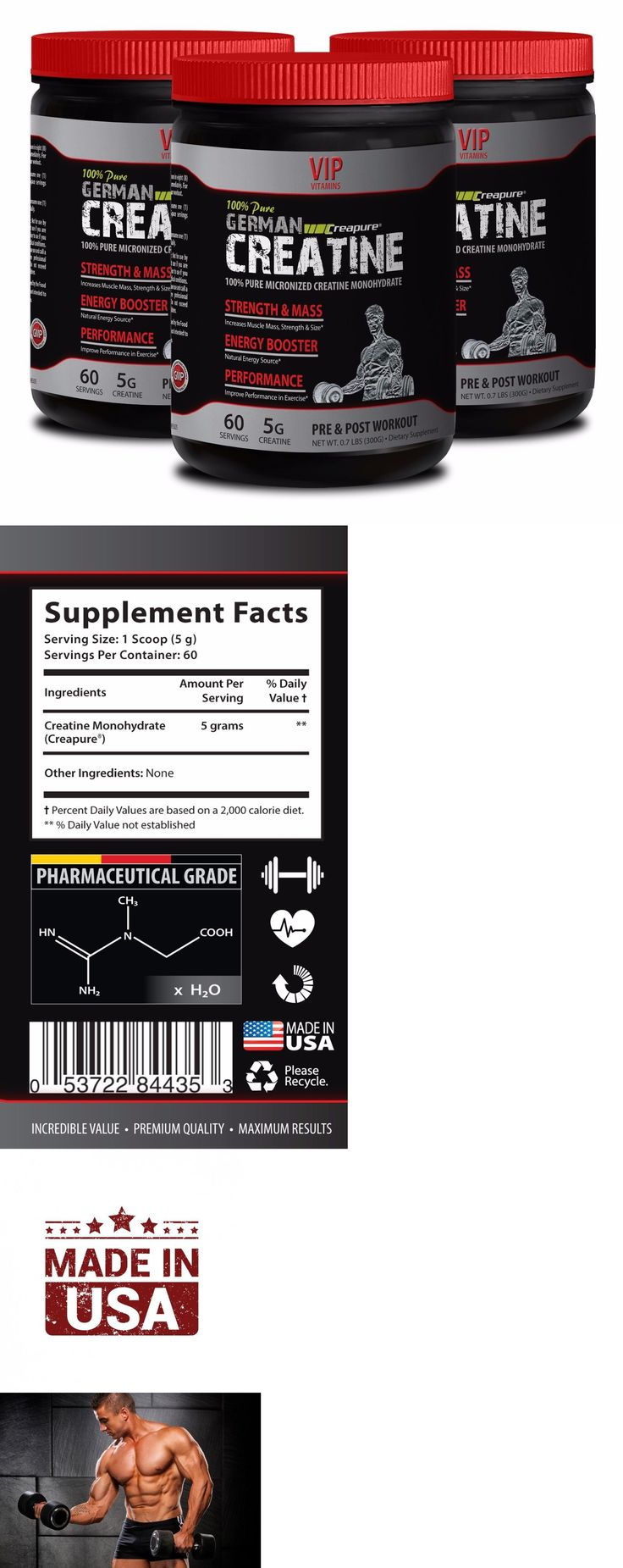 Sports Energy and Hydration: Anabolic Halo German Creatine Strength And Mass 300 G Enhances Brain Function 3B -> BUY IT NOW ONLY: $35.95 on eBay!