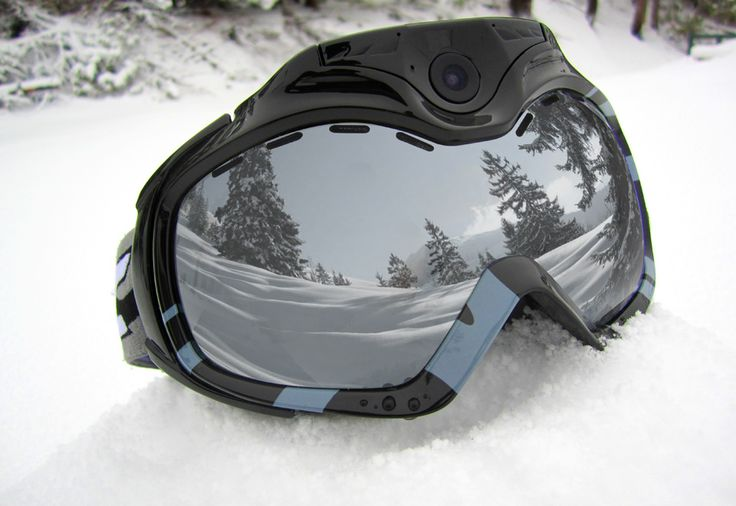 Wifi Camera Ski Goggles.  Drew skis and I watch from a comfy warm place!