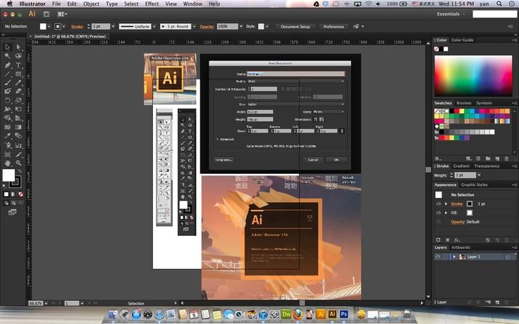 the new UI of Adobe  ILLustrator . U can adjust the UI darken or brighten as u like .  the orange color highlight words look quite well with darken mode