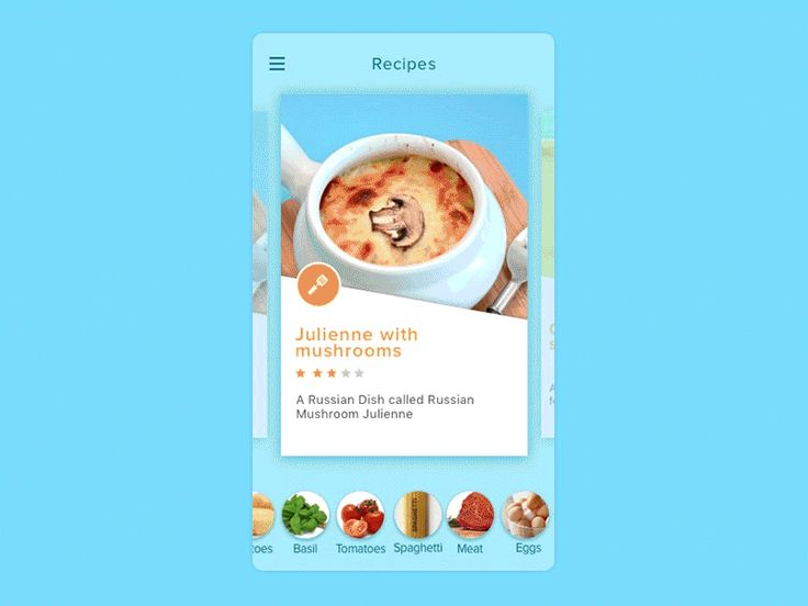 Recipes app concept cleveroad