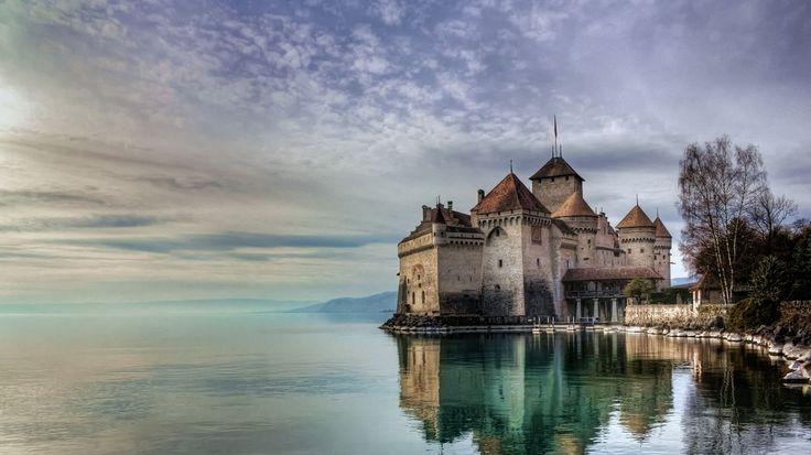 Bing Image Archive: Château de Chillon on Lake Geneva, Switzerland (© Philippe Saire Photography/Getty Images)(Bing Australia)