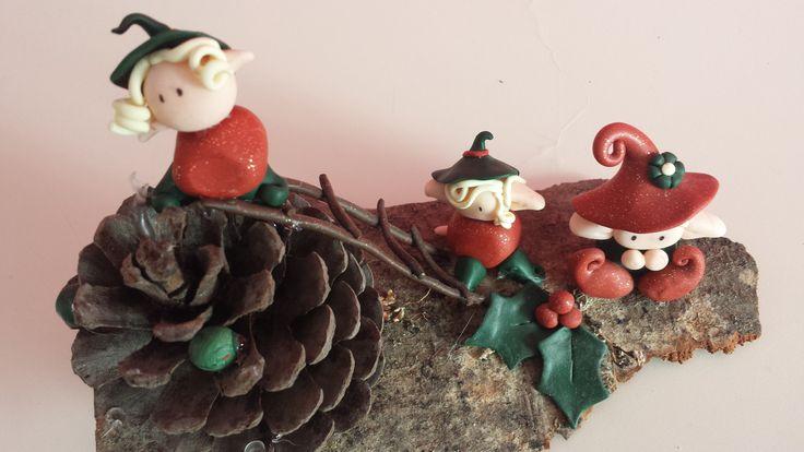 Elfi di Natale in fimo