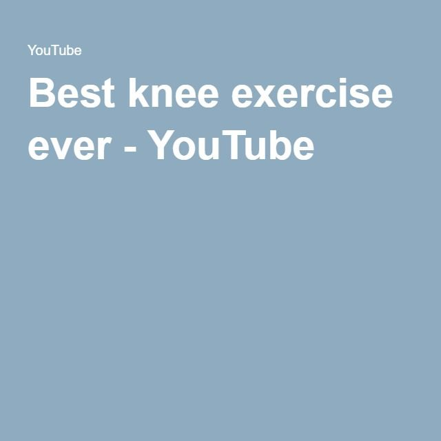 Best knee exercise ever - YouTube
