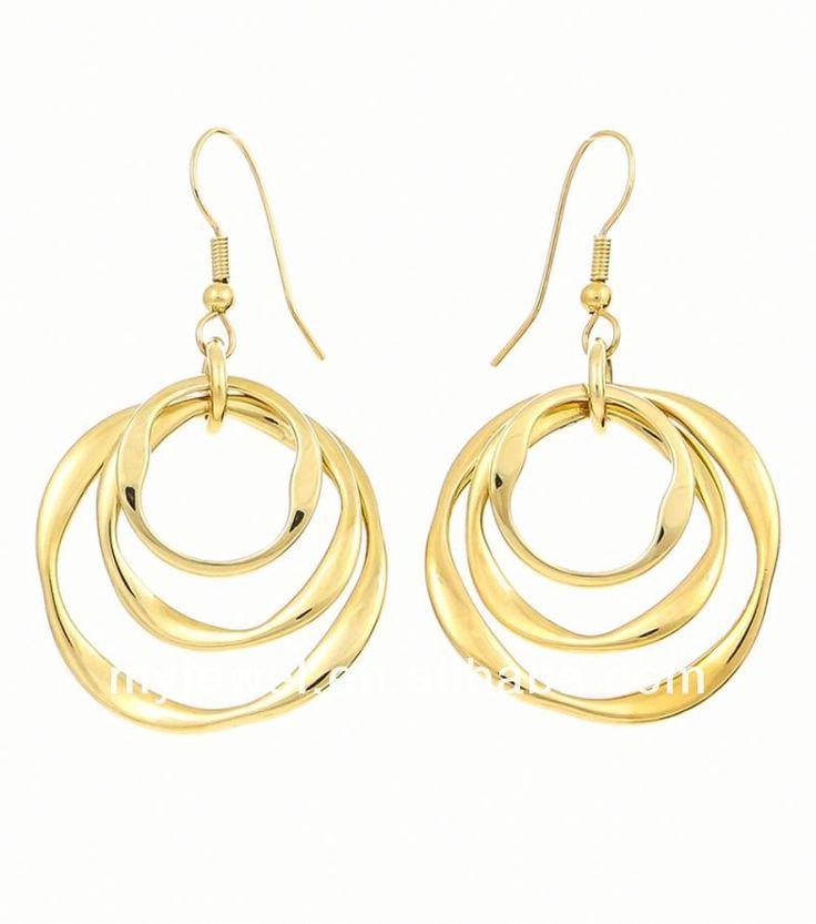 Etched Golden Tree Fish Hook Earrings wooden african earrings