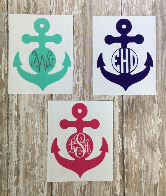 Best Yeti Images On Pinterest Anchors Monograms And Car Decals - Monogram car decal anchorbestmonograms ideas only on pinterest monogram letters