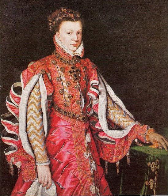 1561 Antonis Mor Portrait of Queen Isabella of Spain or Elisabeth de Valois,c.1560s by Anthonis Mor