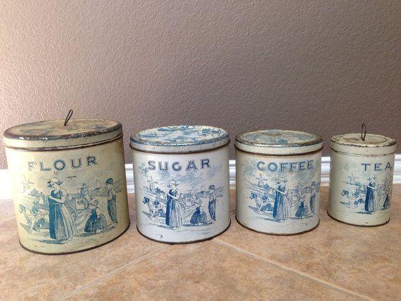 Antique Vintage Black Cast Iron Eyed Owl Kitchen Footed Trivet Cute H O L D I T Antiques Tin Canister Sets