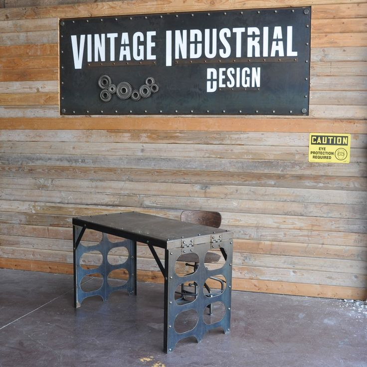 Flat Iron Desk | Vintage Industrial Furniture