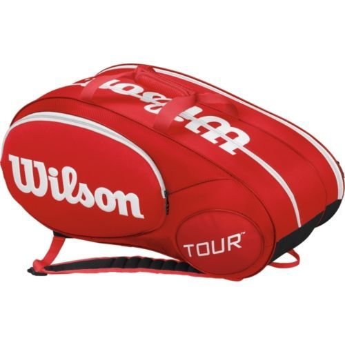 Bags 20869: Wilson Mini Tour Racquet Bag, Red (Holds Up To 6 Racquets) BUY IT NOW ONLY: $79.0