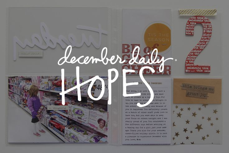 December Daily® 2016 | My Hopes For You For
