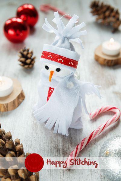 Pupazzo di neve Bianco di Happy Stitching su DaWanda.com