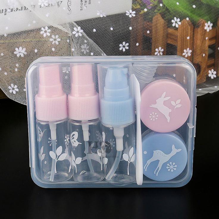7pcs/set Mini Plastic Transparent Small Empty Perfume