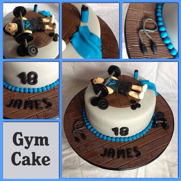 Cake Designs For Gym Lovers : 17 Best images about gym cake on Pinterest Groom cake ...