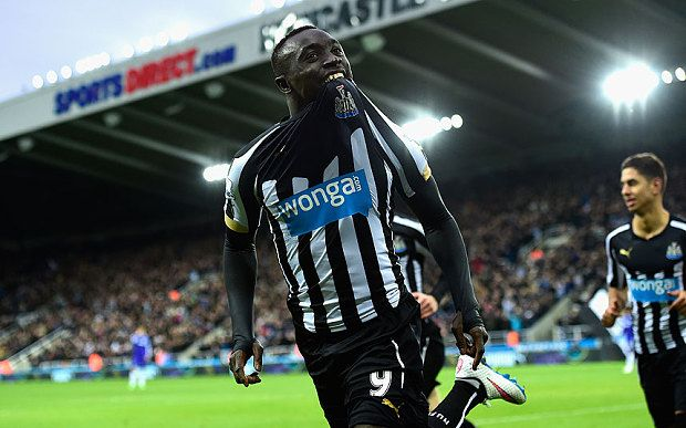 Cisse scored twice for Newcastle to end Chelsea's unbeaten run.