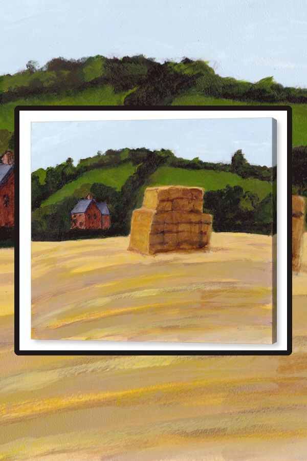 Haystack In The English Countryside Canvas Print Canvas Prints Spiritual Paintings Fine Art America
