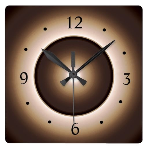 Tan/Brown Illuminated Light Centre> Wall Clock