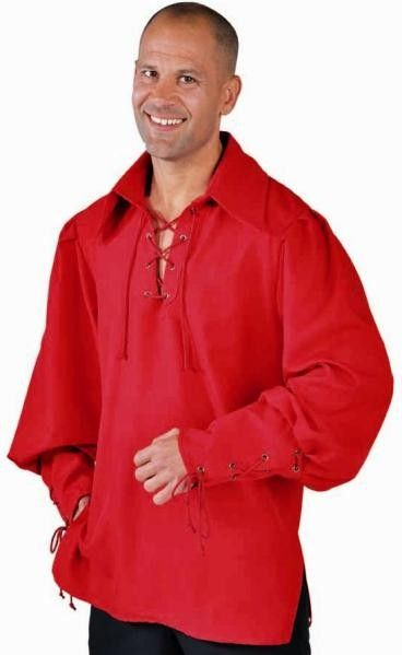 Chemise Steampunk rouge homme