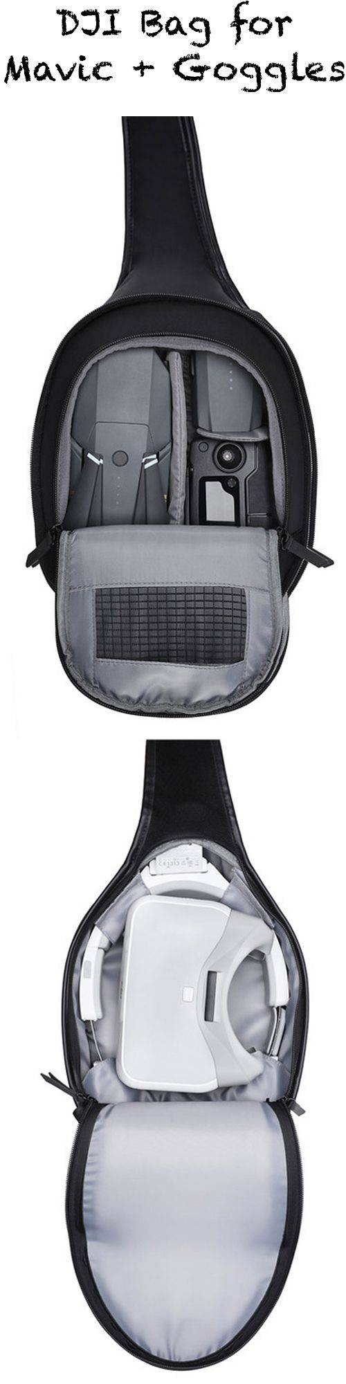 Finally a (Sling-) Bag from DJI for the DJI Mavic Pro AND the DJI Goggles!  Check the Accessories at the official DJI Website: http://click.dji.com/AAdm-G6risRtCcOOaiJj?pm=link