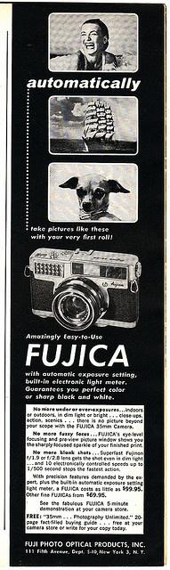 Fujica Advertisement - Sports Illustrated 1959 by sunivroc, via Flickr
