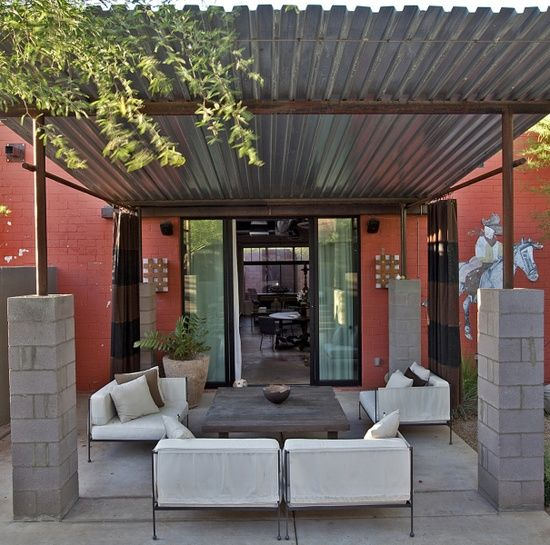 56 best images about shade structures and pergolas on pinterest architecture landscaping and for Hot tin roof custom home design