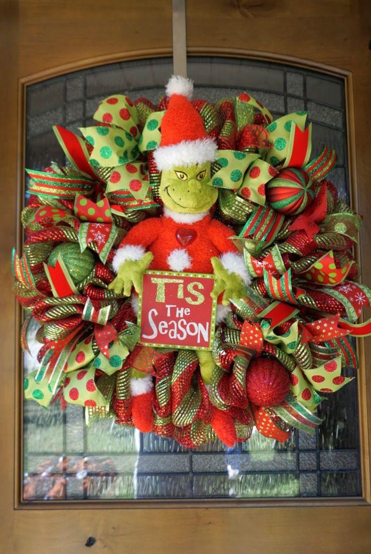 Grinch Wreath Dr Seuss Wreath Christmas Mesh Wreath