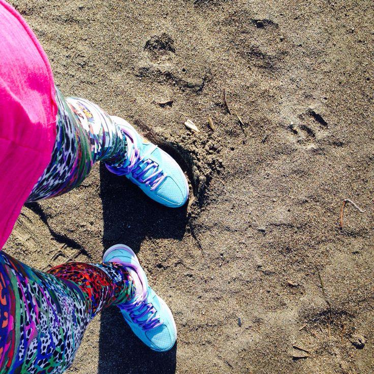 Run baby run beach sand