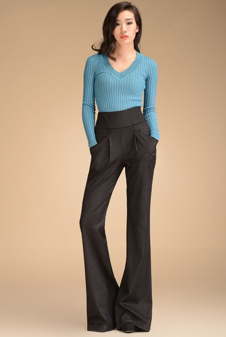 25  beste ideeën over High waisted black trousers op Pinterest ...