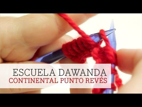 Aprende a tejer con DaWanda - Continental Punto Revés - YouTube
