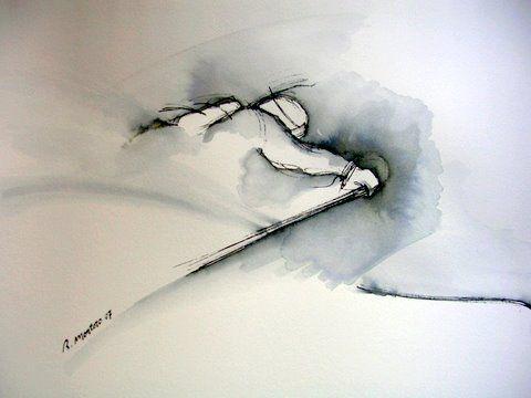 Pinturas de esquí (cortesía de Ricardo Montoro)