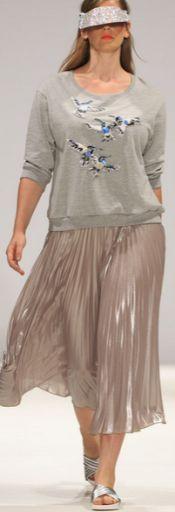 Модные летние юбки 2015 для полных девушек и женщин [фото]