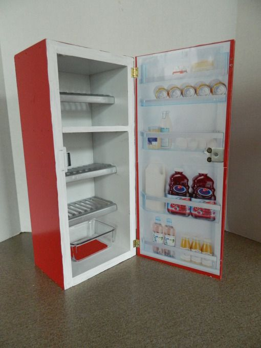 "Refrigerator for American Girl dolls (and other 18"" dolls)"
