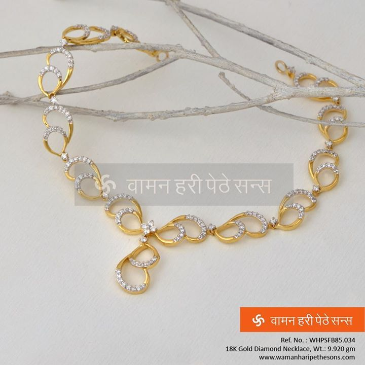 #Glimmering #stunning #stylish #attractive #gold #diamond #necklace from our all new #amazing #collection.