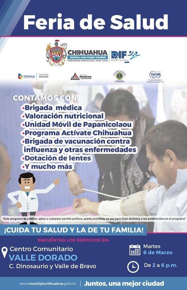"""Invita Gobierno Municipal a """"Feria de Salud"""" en Valle Dorado   El Puntero"""
