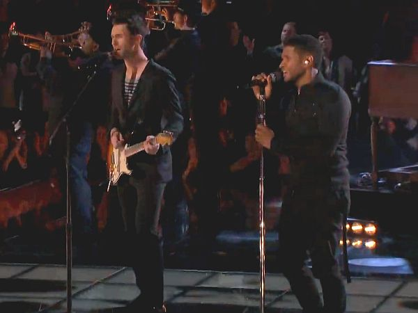 Adam Levine and Usher