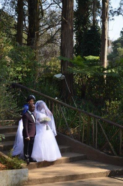 Hear Comes the Bride.  A beautiful Setting