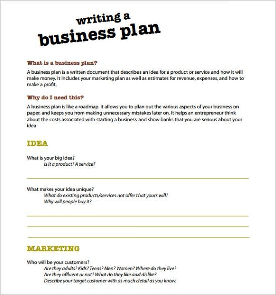 bank service business plan