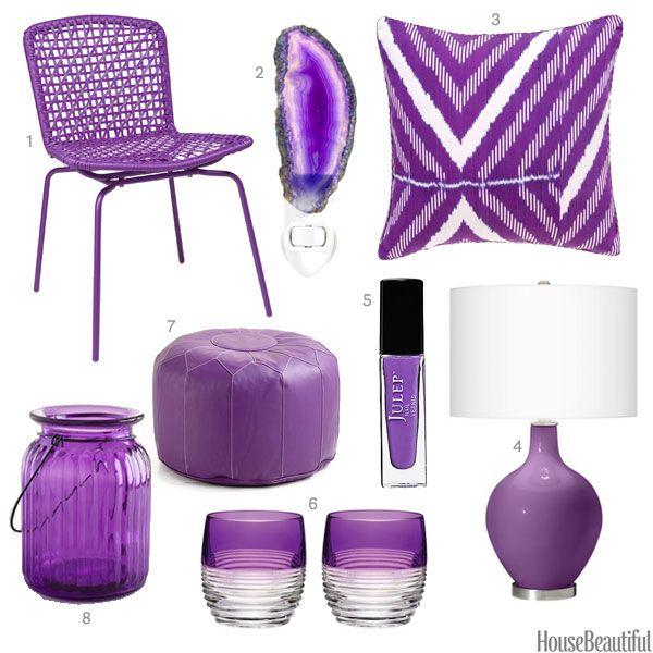 Color of the Week: Grape. Purple Home DecorHome ...