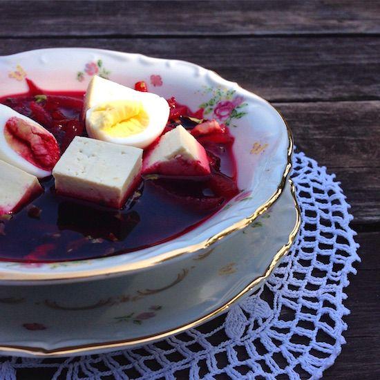 Свекольник с тофу, рецепт