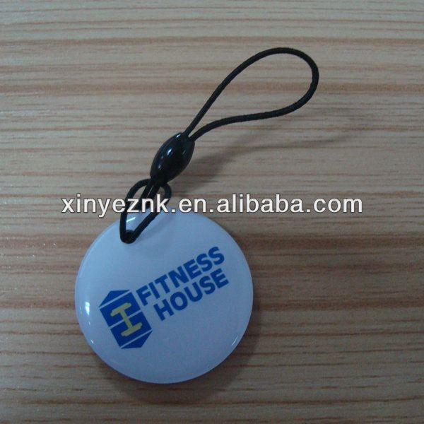 Round PVC epoxy nfc fob tag 1k memory chip