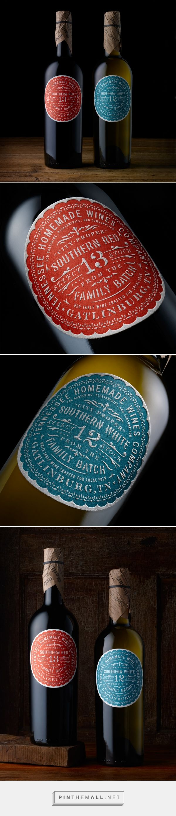 T.H.W. Southern Wine packaging design by Chad Michael Studio (USA) - http://www.packagingoftheworld.com/2016/07/thw-southern-wines.html