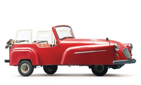 1957 Bond Minicar Mk D - The Mark D Bond Minicar was produced from 1956 through 1958. In total, 3,761 were made. They used a 197cc single-cylinder from Villiers making nine horsepower.