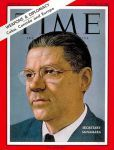 "Today in 1964: Robert McNamara ""Defense Secretary Robert McNamara stood at complete and unmilitary ease behind the lectern on the stage of the State Department auditorium. In cool and well-punctuated sentences, with never an uh or an er, he recited fact after fact, figure after figure, in response to the blunt questions of newsmen. McNamara's manner was that of a professor patiently explaining a simple matter to a slightly backward class. Yet his audience, over television, was the U.S…"