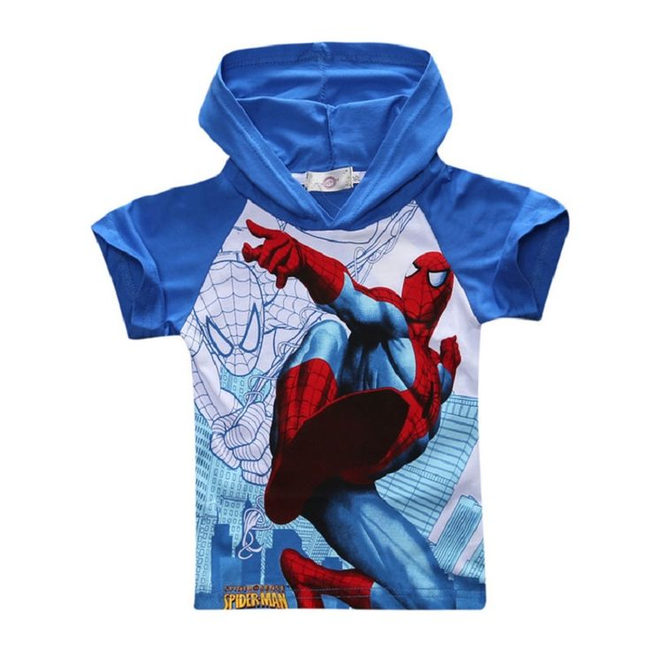 2016 Spiderman Hoodies Children T Shirts Boys Kids T-Shirt Designs Hooded Clothing For Boys Baby Clothing Girls T-Shirts //Price: $US $4.98 & FREE Shipping //     #woman
