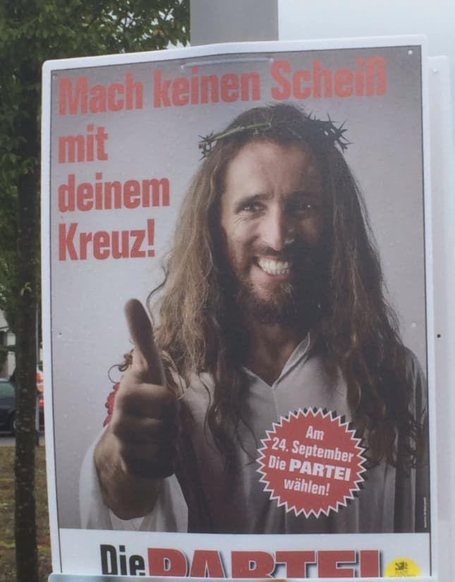 19 Beweise, dass DIE PARTEI 2017 die lustigsten Plakate des Wahlkampfes hatte – Armin W.