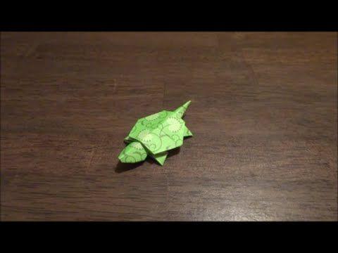 箸袋で折り紙~カメ編~ - YouTube
