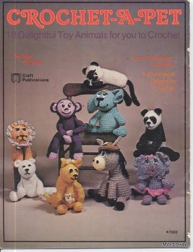 crochet a pet Дизайнерские вязаные животные (англ) - 110485152107956042649 - Álbuns da web do Picasa